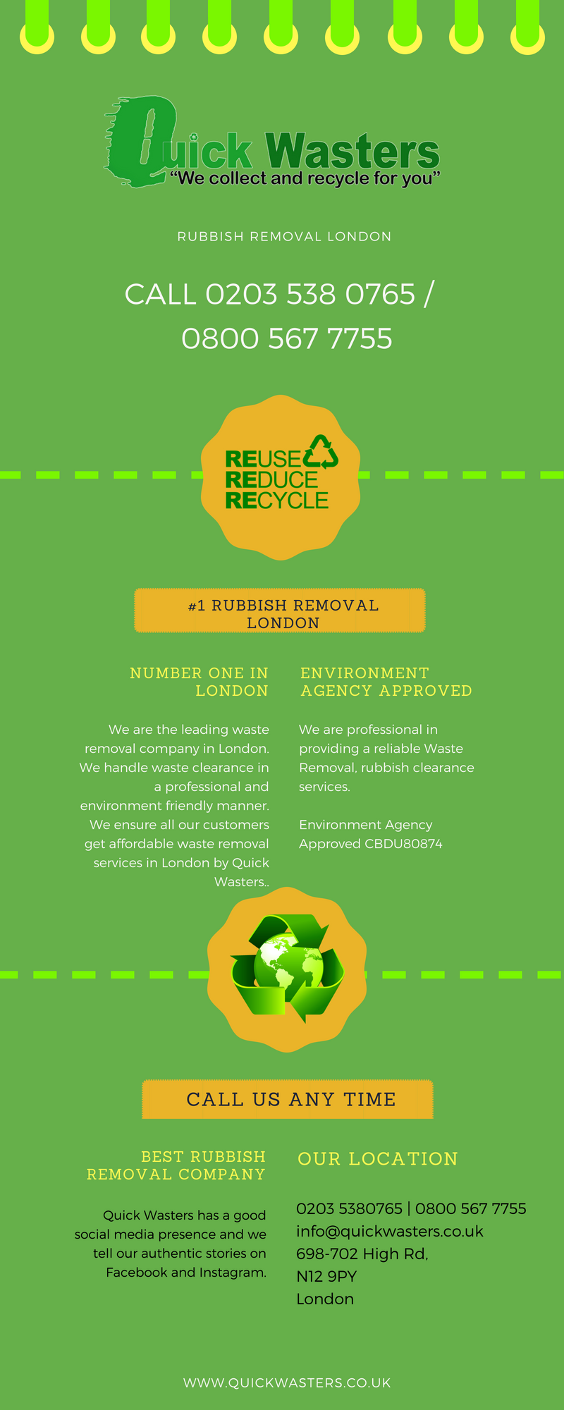 QuickWasters – Environment Agency Approved Rubbish Removal Company
