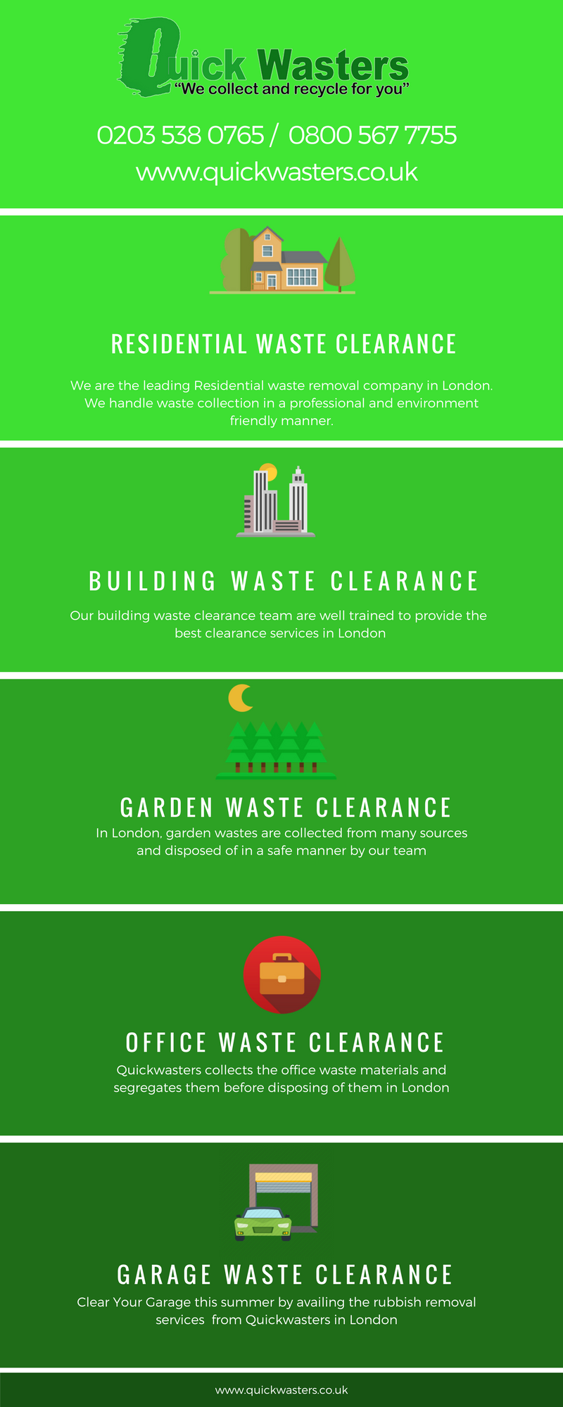 Reliable & Trusted Rubbish Removal Company In London – Quickwasters