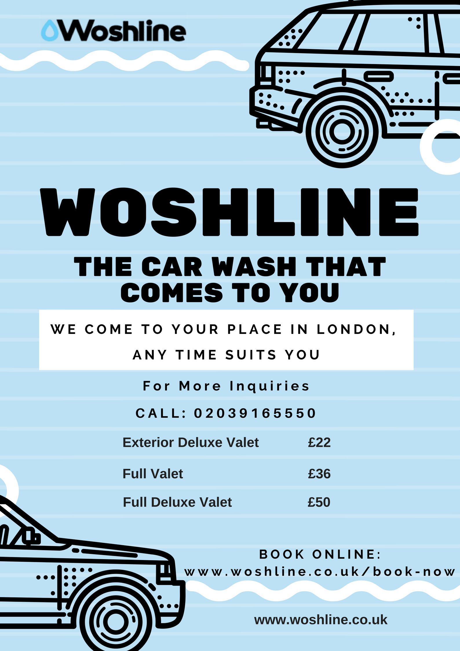 Woshline – Mobile Car Wash Price in London
